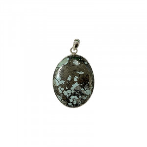 Pendentif Turquoise pyrite sur argent 0.925