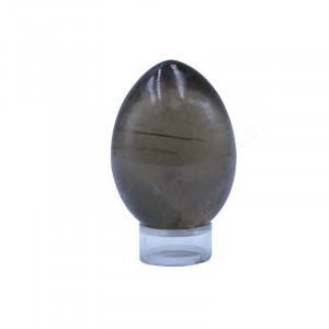Oeuf quartz fumé extra - pièce unique