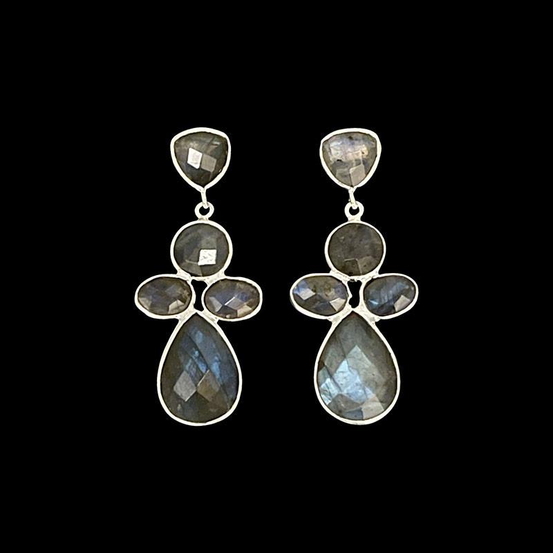 Boucles d'oreilles - Labradorite - Argent 925