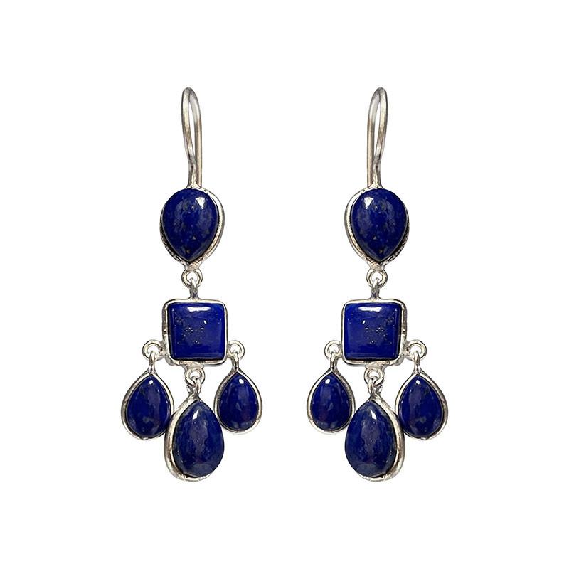 Boucles d'oreilles - Lapis Lazuli - argent 925