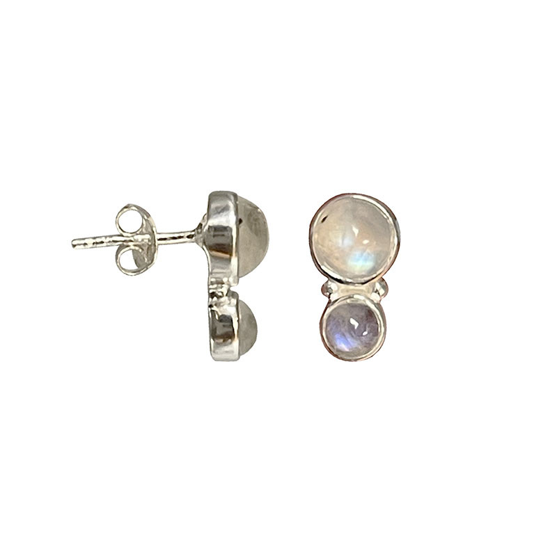 Boucles d'oreilles - Pierre de lune - argent 925