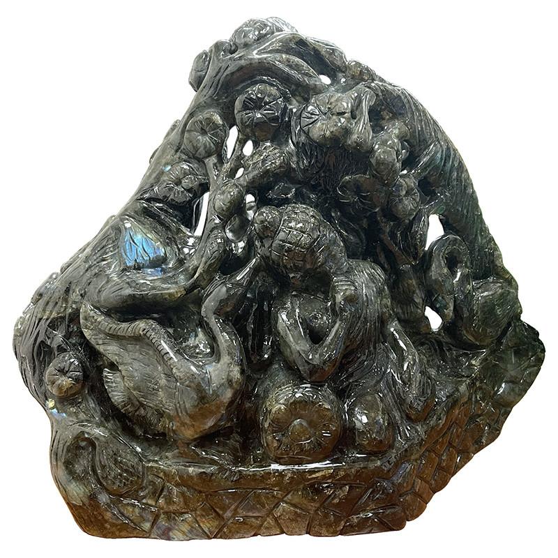 Labradorite Bouddha - la pièce