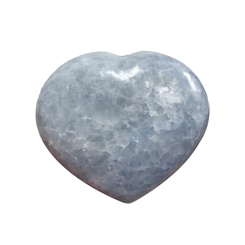 Coeur en Calcite bleue - la pièce