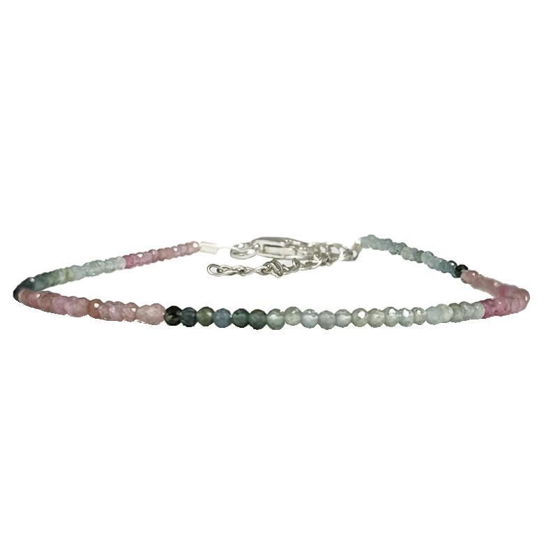 Bracelet - Tourmaline multi - argent 925
