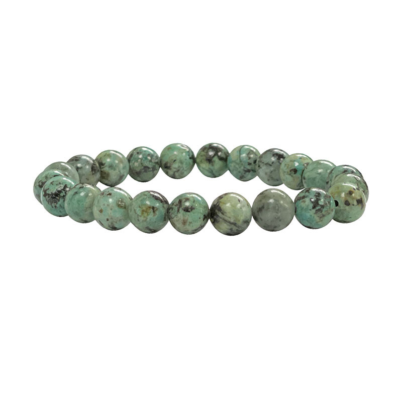 Bracelet Turquoise Africaine (Jaspe) 4,6 ou 8 mm