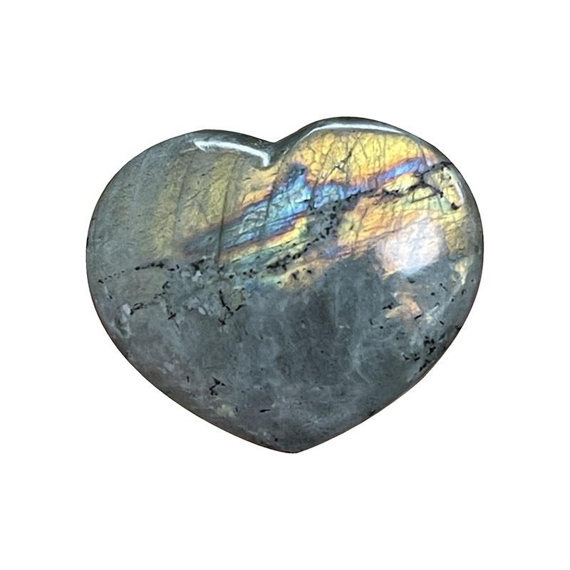 Coeur Labradorite claire - la pièce