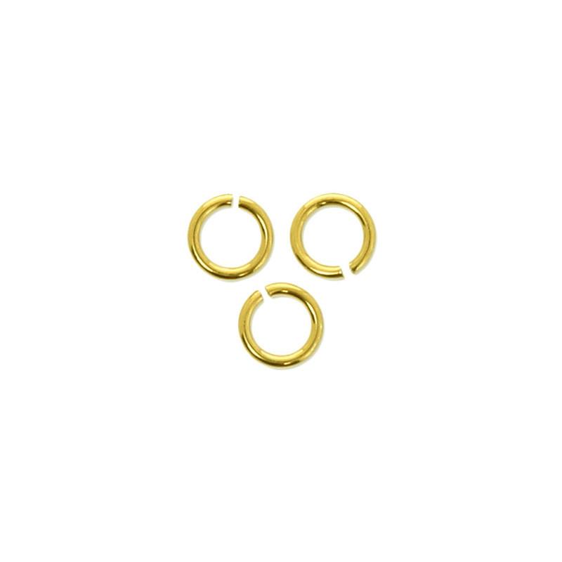 Anneaux ouverts plaqué or - 5 mm