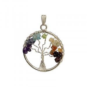 Pendentif 7 chakras arbre de vie