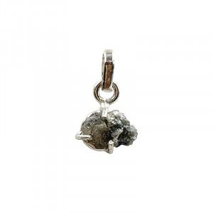 Pendentif diamant brut - argent 0.925