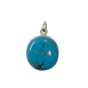 Pendentif turquoise népal oval argent 0.925