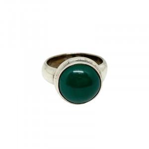 Bague Argent 0.925 Agate Verte