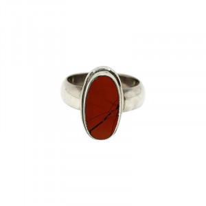 Bague en Argent 0.925 - Jaspe Rouge