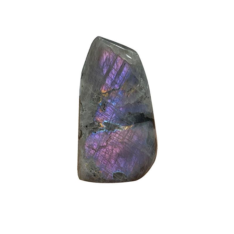 Labradorite violette toute polie - la pièce