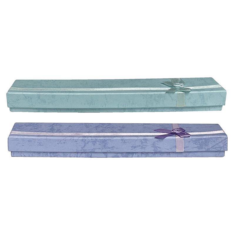Boîte pour collier - violet ou bleu - 24 pièces