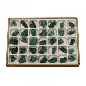 Malachite fibreuse - le carton - Congo