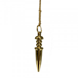 Pendule métal doré
