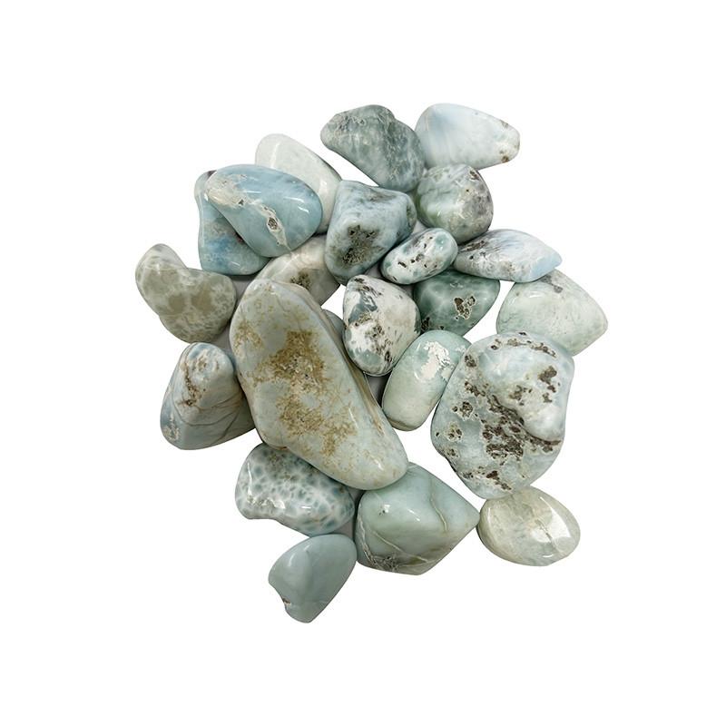 Larimar - lot de 100 grs - pierres roulées