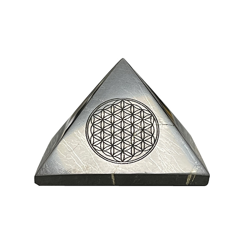 Pyramide shungite fleur de vie - la pièce