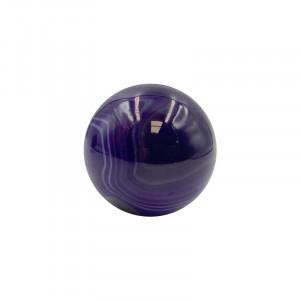 Sphère en agate violette Brésil (La pièce)