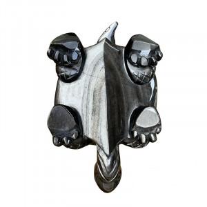 Tortue obsidienne argentée