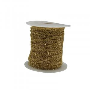 Chaine argentée ou dorée (bobine de 100 m)