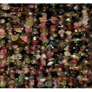 Collier Tourmaline baroque 90cm - la pièce