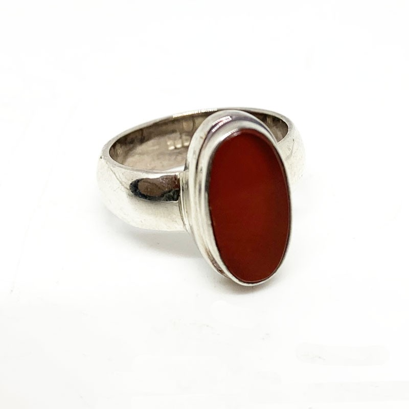 Bague Argent 0.925 Agate Rouge