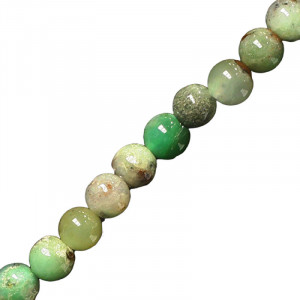 Collier Chrysoprase Madagascar boules 6 à 12 mm - 42cm
