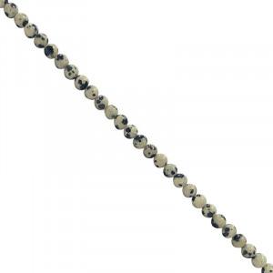 Fil Jaspe dalmatien de 42 cm perles de 4 mm