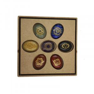 Set de 7 pierres equilibre chakra