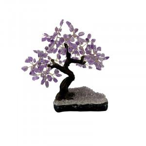 Bonsai en pierres Amethyste env. 30 cm