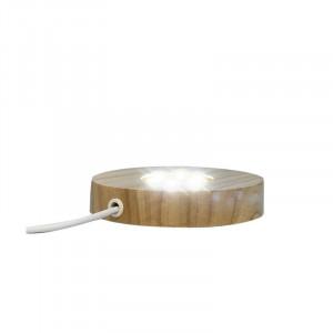 Socle bois avec led prise USB